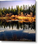 Reflections At Grace Lake Metal Print