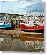 Reflections At Low Tide Metal Print