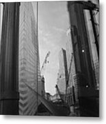 Reflections At The 9/11 Museum In Black And White Metal Print
