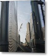 Reflections At The 9/11 Museum Metal Print
