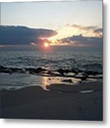 Reflections Cape May Point Metal Print