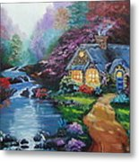 Reflections Cottage Metal Print