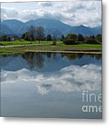 Reflections - Flooded Field - Austria Metal Print