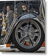 Reflections In An Ice Cream Truck Metal Print