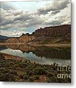 Reflections In Blue Mesa Metal Print
