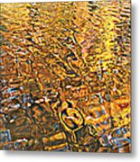 Reflections In Gold Metal Print
