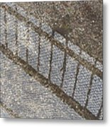 Reflections In Grey Metal Print