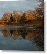 Reflections In My Favorite Pond Metal Print