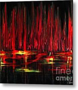 Reflections In Red Metal Print