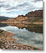 Reflections In The Blue Mesa Metal Print
