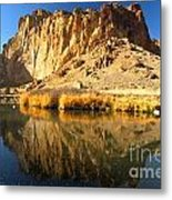 Reflections In The Crooked River Metal Print