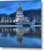 Reflections In The Kanawha River Metal Print