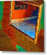 Reflections In The Mirror Metal Print by Jonathan Steward