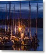 Reflections In The Night Metal Print