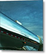Reflections In The Passing Lane Metal Print