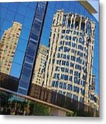 Reflections In The Rolex Bldg. Metal Print