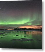 Reflections In The Sea Metal Print by Frank Olsen