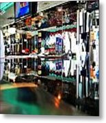 Reflections Of A Diner 3 Metal Print
