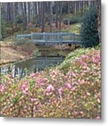 Reflections Of A Walking Bridge Metal Print