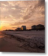 Reflections Of A Winters Sunset  Metal Print
