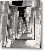 Reflections Of An Infrared Alley Metal Print