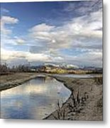Reflections Of Dancing Clouds Metal Print