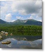 Reflections Of Katahdin At Sandy Stream Pond Metal Print