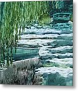 Reflections Of Monet's Pond Metal Print