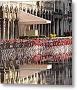 Reflections Of Saint Mark's Square -day Metal Print