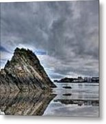 Reflections Of Tenby 2 Metal Print