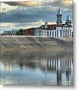 Reflections Of The Courthouse Metal Print