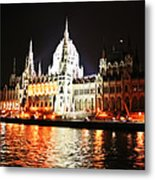 Reflections Of The Danube Metal Print