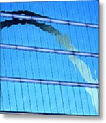 Reflections Of The St Louis Arch Metal Print