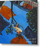 Reflections Of The Wharf Metal Print