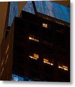 Reflections Of Times Square Metal Print