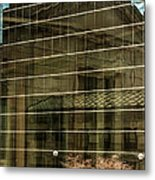 Reflections Of Union Station Metal Print