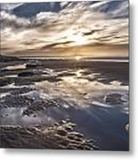 Reflections On A Beach Metal Print