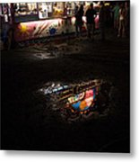 Reflections On A Mid-summer Night Metal Print