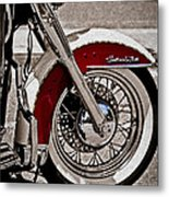 Reflections On A Motorcycle Metal Print