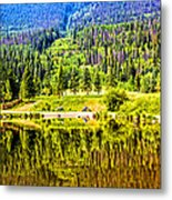 Reflections On A Summer Day - Vail - Colorado Metal Print