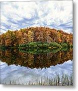 Reflections On Boley Lake Wv Metal Print by Dick Wood