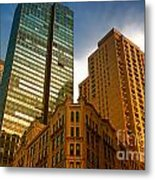 Reflections On Buildings Nyc Metal Print
