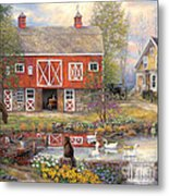 Reflections On Country Living Metal Print
