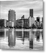 Reflections On Miami Metal Print