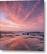 Reflections On North Jetty Dusk Metal Print