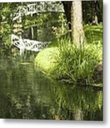Reflections On Pond Metal Print