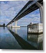 Reflections On Samoa Bridge Metal Print