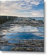 Reflections On The South Spit Metal Print