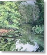 Reflections On The Valley River Metal Print