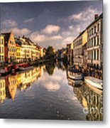 Reflections Over Ghent Metal Print